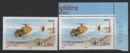 FRANCE POSTE AERIENNE N° 70 + 70a Cote 19 € Dentelés 13x13 1/4 Et 13x12 1/2 Neufs ** MNH.TB (vendus à La Valeur Faciale) - 1960-.... Postfris