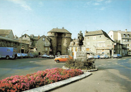 48 Marvejols Place Du Soubeyran Voiture Auto Citroen 2cv 2 Chevaux Camionnette - Marvejols