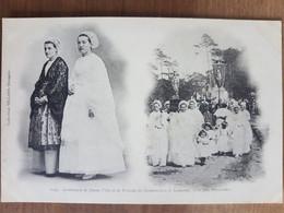 Costumes De Jeune Fille Et De Femme De Douarnenez Et Audierne Pour Une Procession.dos Non Divisé.édition Villard 1153 - Douarnenez