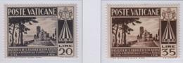 Vaticano - 1954 Pontificato Pio XII - Basilica Di S. Francesco S.cpl 2v MNH** (rif. 185/86 Rif. Cat. Unificato) - Nuevos