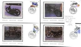 D - [907192]B/TB//-Belgique 1995 - N° 2615/18, 'HERSTAL', 4 FDC, Série Complète, Motos, Transports - 1991-00
