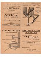 """Publicité Le Vulcanisateur à Air Chaud """"Vulca"""" Mompiou Fils Constructeur à Jouè-Lès-Tours Avec Tarif De Vente De 1938 - Publicités"""