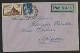 N° 260+ N° 288 De PARIS En 1932 Par AVION VIA AIR ORIENT Pour L'AVISO TAHURE à SAÏGON. (voir Description) - 1921-1960: Periodo Moderno