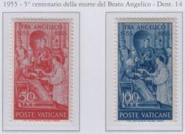 Vaticano - 1955 Pontificato Pio XII - Martirio Del Beato Angelico S.cpl 2v MNH** (rif. 195/96 Rif. Cat. Unificato) - Nuevos