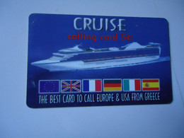 GREECE   CARDS   SHIP SHIPS  CRUICE   2  SCAN - Barcos