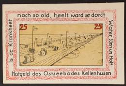 Sza.20 - Germany 1921 Notgeld Banknote 25 Pfennig Bad Kellenhusen Grabowski/Mehl 687.1-1/4 UNC - [11] Local Banknote Issues