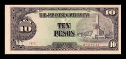 Filipinas Philippines 10 Pesos 1943 WWII Pick 111 SC- AUNC - Philippines