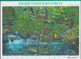 USA 3265-3274 Folienblatt (kompl.Ausg.) Postfrisch 2000 Naturlandschaften - Regenwald - Unused Stamps