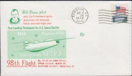 USA - 1972 - 98TH FLIGHT / BOB DANA  ILLUSTRATED   COVER  WITH  EDWARDS   SEP 12   POSTMARK - Stati Uniti