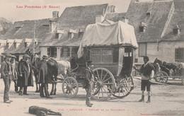 CPA LES PYRENEES ARREAU Départ De La Diligence Transportation  ( 2 Scans) - Andere Gemeenten