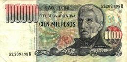 Billet >  Argentine > 100 000 Pesos - Argentina