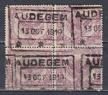 TR 62 Gestempeld AUDEGEM (Noodstempel) - 1915-1921