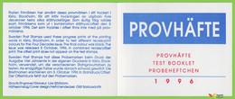 Voyo SWEDEN 1996 Test Booklet Four Decades (**) MINT MNH - 1981-..