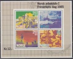 NORWEGEN  Block 5, Postfrisch **,   Tag Der Briefmarke, Berufsleben - Die Off-shore-Industrie 1985 - Hojas Bloque