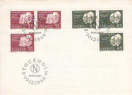 Sweden 1968 FDC Sc #804-#807 Nobel Prize Winners Of 1908 - FDC