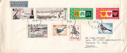 Sweden 1970 Cover To Canada Multiple Franking Sc #835, #856, #869-#870, #851, #756, #877, #875 - Brieven En Documenten