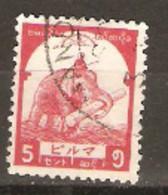 Burma  Japanese Occupation  1943   SG J 91 5c  Fine Used - Birmanie (...-1947)