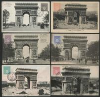 N° 624 à 629 ARC DE TRIOMPHE Sur 6 Cartes Maximum En 1951 (voir Description). - 1940-49