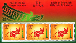 Ireland - 2008 - Chinese Year Of The Rat - Mint Miniature Stamp Sheet - Neufs
