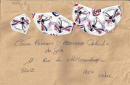 TP N° 5373x6 (du Bloc) SUR LETTRES DU 23.1. 2020 - 1961-....