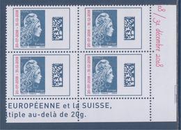 Marianne L'Engagée 2018 Europe 5270 Coin De 4 Surchargée Neuf Gommé 20-7-2018 -- 31-12-2018 Bas De Feuille - 2018-... Marianne L'Engagée