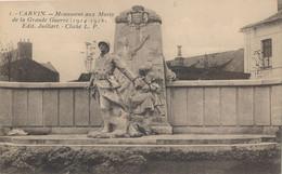62) CARVIN : Monument Aux Morts De La Grande Guerre - Otros Municipios
