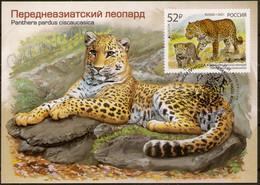 2021-2722 Maximum Card Canc Sochi Russia EUROPA CEPT The National Endangered Wildlife.Fauna:Big Cats:The Persian Leopard - Cartoline Maximum