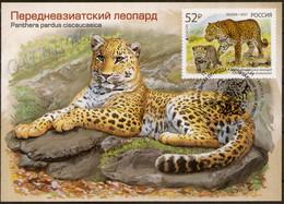 2021-2722 Maximum Card Canc St Petersburg Russia EUROPA CEPT National Endangered Wildlife.Fauna:Big Cats:  Leopard - Cartoline Maximum