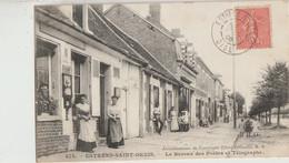 Estrées-Saint-Denis  60   Le Bureau De Poste -Epicerie Et Café Avec Trottoir Tres Animé - Estrees Saint Denis