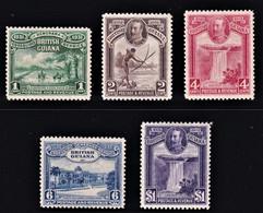 GUYANA BRITANNICA 1931 CENTENARY SET  BRITISH GUIANA MLH* SG 283/87  VERY FINE  MINT SUPERB STAMP CV £ 70 - Guyana Britannica (...-1966)