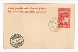 1908  BOSNIA I HERCEGOVINA,SARAJEVO,STATIONERY CARD,AVEC REPONSE,REPONSE PART ONLY,JAJCE WATERFALL - Bosnia And Herzegovina