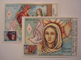 MONACO CROIX ROUGE 1987 . SAINTE DEVOTE 1594/5 - Maximumkarten (MC)