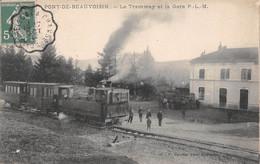 Pont De Beauvoisin - Le Tramway Et La Gare - Sonstige Gemeinden