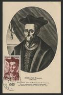 N° 866 12 Fr RABELAIS Sur Carte Maximum En 1950 (voir Description). - 1950-59