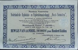 Nederlandsche Exploitatie- En ExploratieMij OOST-SUMATRA 1898 - Afrika