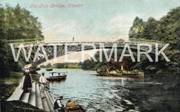 CHESTER THE IRON BRIDGE OLD COLOUR POSTCARD CHESHIRE - Chester