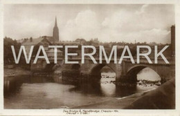 CHESTER DEE BRIDGE AND HANDBRIDGE OLD R/P POSTCARD CHESHIRE - Chester