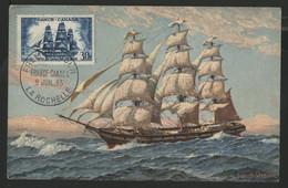 N° 1035 30 Fr LA CAPRICIEUSE Sur Carte Maximum En 1955 (voir Description) - 1950-59