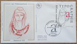 FDC 1986 - YT N°2407 - TYPOGRAPHIE / RAYMOND GID - RENNES - 1980-1989