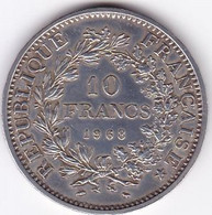 FRANCE MONNAIE DE 10 FRANCS HERCULE 1968 / ARGENT/ - K. 10 Franchi