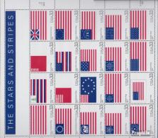 USA 3313-3332 Zd-Bogen (kompl.Ausg.) Postfrisch 2000 Flaggen - Unused Stamps
