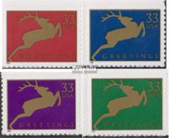 USA 3216I BA-3219I BA (kompl.Ausg.) Postfrisch 1999 Weihnachten - Unused Stamps