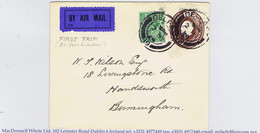 Ireland Airmail 1924 Belfast To Liverpool Experimental Service By Flying-boat, First Eastbound BELFAST 2 MY 24 - Airmail