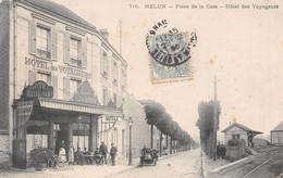 Melun - Place De La Gare - Hôtel Des Voyageurs - Melun