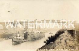 CANTILEVER BRIDGE MANCHESTER SHIP CANAL OLD R/P POSTCARD LATCHFORD WARRINGTON - Other