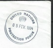 "NZ-/-054- RARE OBL. De CASQUES BLEUS Du 05 FEV. 1994 Du RWANDA  "" PROTECTION FORCE "", UNITED NATIONS, RARE ! - Ohne Zuordnung"