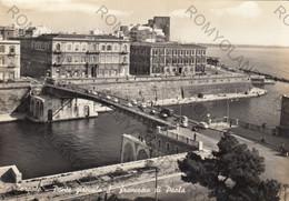 CARTOLINA TARANTO, PUGLIA, PONTE GIREVOLE S.FRANCESCO DI PAOLA, BARCHE, MARE, SOLE,  VACANZA, ESTATE VIAGGIATA 1962 - Taranto