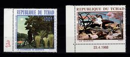 Tchad - YV PA 47 & 48 N** Complete Tableaux Henri Rousseau - Ciad (1960-...)