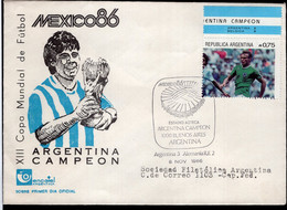 Argentina - 1986 - Lettre - Cachet Spécial - Maradona - Mexique '86 - XIIIe Coupe Du Monde De Football - A1RR2 - 1986 – Mexico