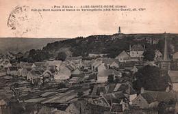 6059 Carte Postale ALISE SAINTE REINE  (ALESIA) Vue Mont Aixois Statue Vercingétorix     (scan Recto-verso) 21 Côte D'Or - Autres Communes
